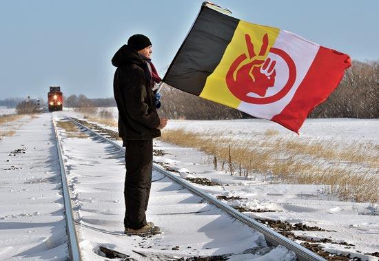 מחאת העמים הילידים בקנדה / צילום: רויטרס