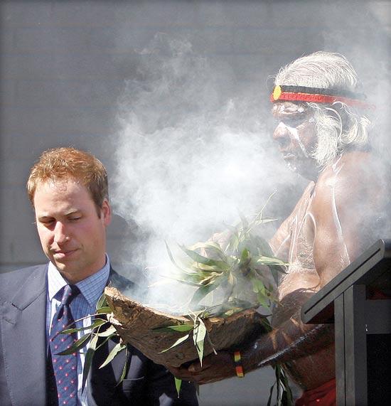 הנסיך הבריטי ויליאם בטקס אבוריג'יני באוסטרליה / צילום: רויטרס