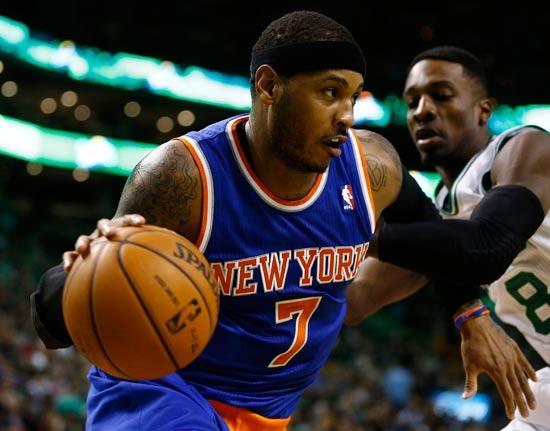 כרמלו אנתוני שחקן ניו יורק ניקס מה-NBA / צלם: רויטרס