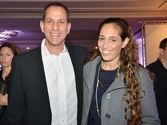 מאיה הרטמן, שמואל האוזר, ועידת ישראל לעסקים 2013 / צילום: תמר מצפי