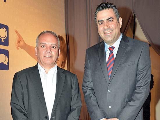 ערן כהן, ירון קליין, ועידת ישראל לעסקים 2013 / צילום: תמר מצפי