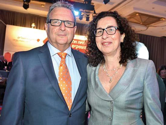 ענת לוין, מאיר ברון, ועידת ישראל לעסקים 2013 / צילום: תמר מצפי