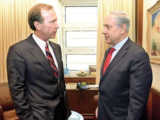 בנימין נתניהו, ניל בוש, נצר למשפחת הנשיאים / צילום: קובי גדעון