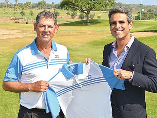 טל קינן, בארי שקד, הסכם מתן חסות לנבחרת הגולף של ישראל / צילום: יחצ