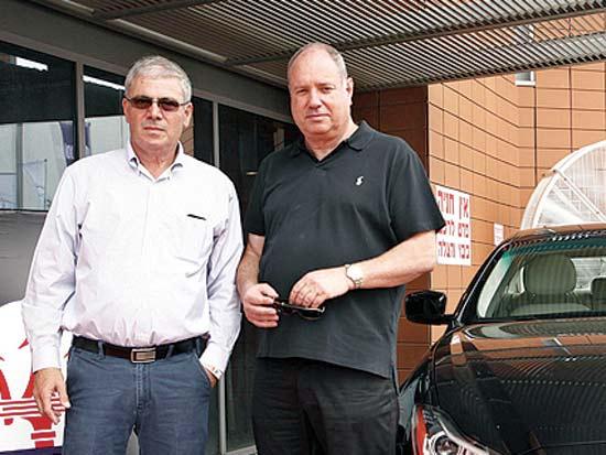 דודי וירניק, קובי הלפרין, אירוע נהיגה במותגי פרימיום / צילום: פז בר
