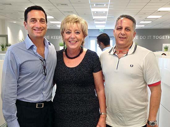 שלומי גבאי, מרים פיירברג, מת'יו ברונפמן, חנוכת משרדי איקאה בנתניה / צילום: זוג הפקות
