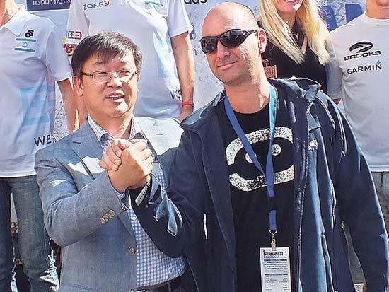 ניר ברק, די אס צ'וי, חצי מרתון אילת 2013 / צילום: אתר שוונג