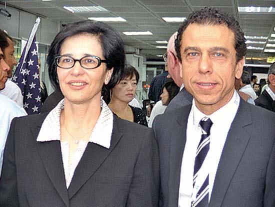 יאיר סהר, ורדה שין, שבוע יהלומים בין לאומי / צילום: יענק'לה