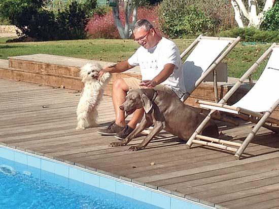 אנשי עסקים וכלבם, משפחת ליבר / צילום: תמונה פרטית