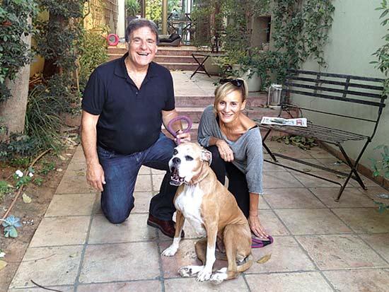 אנשי עסקים וכלבם, משפחת שלמור / צילום: יעקב אדרי