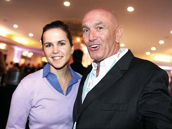 אורי ברלב ובתו יהלי, ועידת ישראל לעסקים 2013 / צילום: תמר מצפי