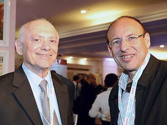 גיל שרון, יוסי גרוס, ועידת ישראל לעסקים 2013 / צילום: תמר מצפי