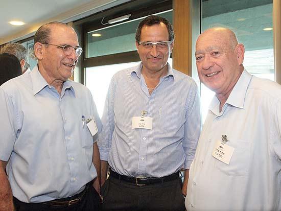 אהוד סביון, אילן בק, גד זאבי, פורום אנשי העסקים של אוניברסיטת חיפה / צילום: יוני רייף