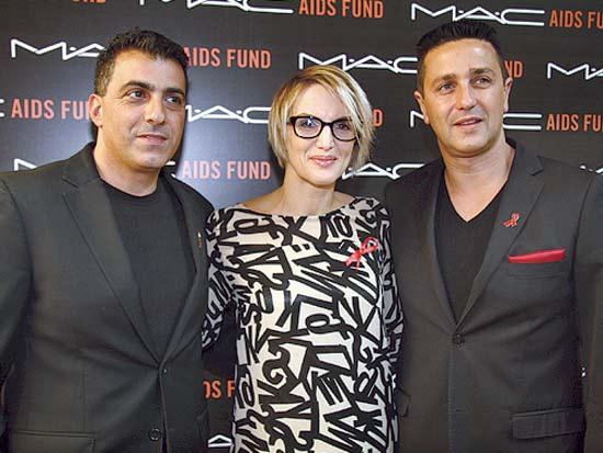 אורן רווח, מיקה פרס, אלי גספאן, מכירות של MAC למען המלחמה באיידס / צילום: אסף לב