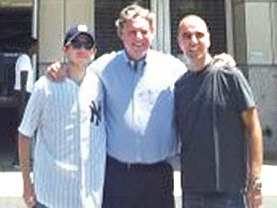 ארז חלפון, רנדי לוין, יגאל שליט, ניו יורק יאנקיז מארחים / צילום: יחצ