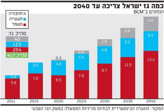 כמה גז ישראל צריכה