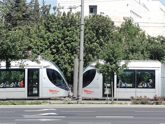 הרכבת הקלה בירושלים / צילום: תמר מצפי