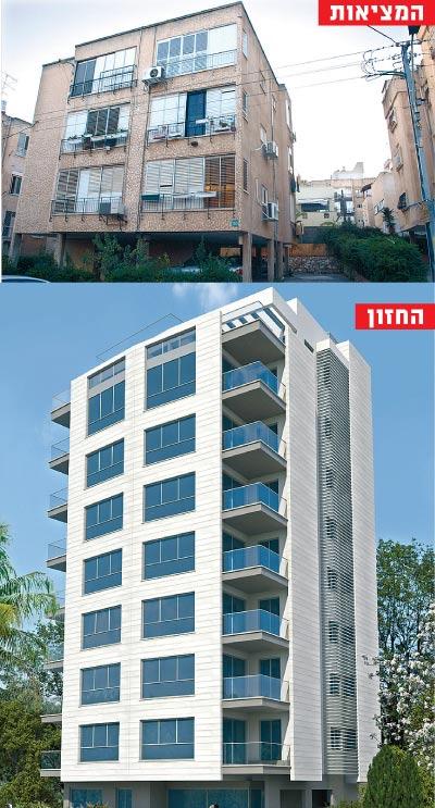 בנין ברחוב תל חי ברמת גן / צילום: תמר מצפי הדמיה: סטודיו N-Trace
