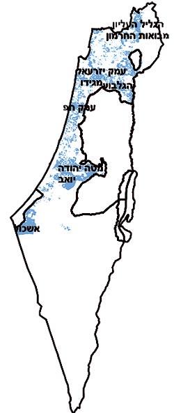 מפת אדמות קקל / צילום: יחצ