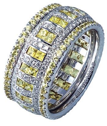 טבעת זהב בשיבוץ יהלומים / צילום: יחצ