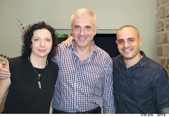 רותם דנון לאוניד נבזלין ובתו אירינה -/ צילום: יחצ סיוון פרג'
