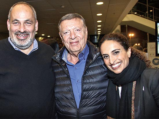 אחינועם ניני, מיכאל שטראוס ושלמה דוברת / צילום: אבישי פינקלשטיין