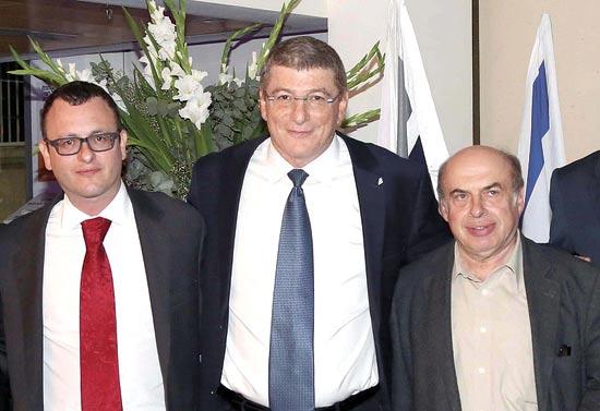 נתן שרנסקי אליעזר שקדי ומתיו גולד / צילום: סיון פרג'
