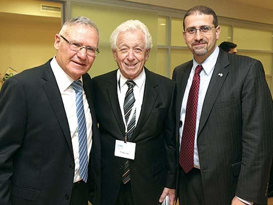 דן שפירו, פרנק לואי, עמוס ידלין, הכנס השנתי של המכון למחקרי ביטחון לאומי / צילום: חן גלילי