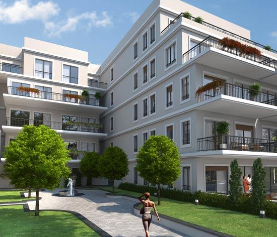 הפרויקט שנבנה ברחוב מיכאלאנג'לו / הדמייה: בר אוריין אדריכלים בע