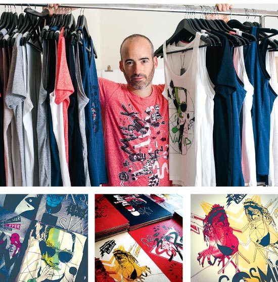 חולצות של גילי קומפורטי / צילום: שלומי יוסף