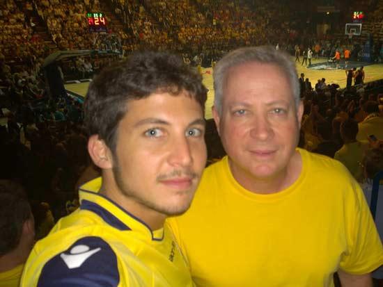 אילן גרינבוים ו בנו איתי / צילום: עצמי