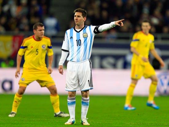 ליונל מסי במדי נבחרת ארגנטינה / צלם: רויטרס