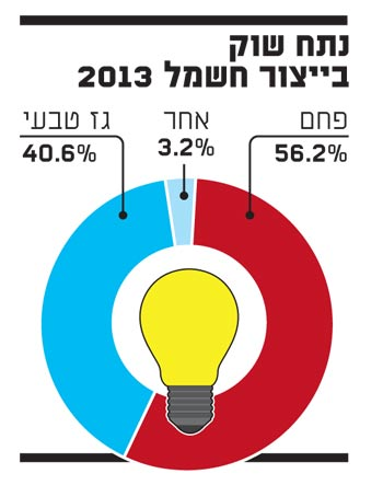 נתח שוק בייצור חשמל