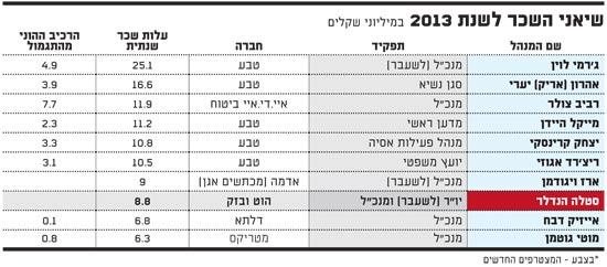 שיאני השכר לשנת 2013 - 16.3.14