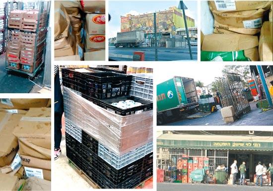 פריקה ואחסנה של מוצרי מזון בסניף רמי לוי / צילום: גלובס טיוי