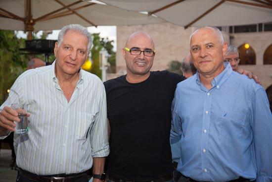 אלי שרמייסטר אילן עזריאל וליאור רקנאטי / צילום: אייל אמיר ומושון תמיר