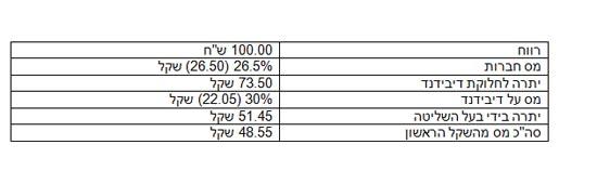 חלוקת רווחי החברה/ הנתונים באדיבות לשכת יועצי המס בישראל