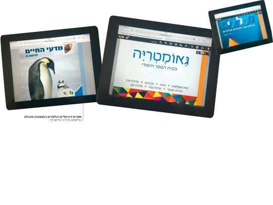 ספרים דיגיטלים הנילמדים באמצעות טאבלט / צילומים: מיכל רז חיימוביץ