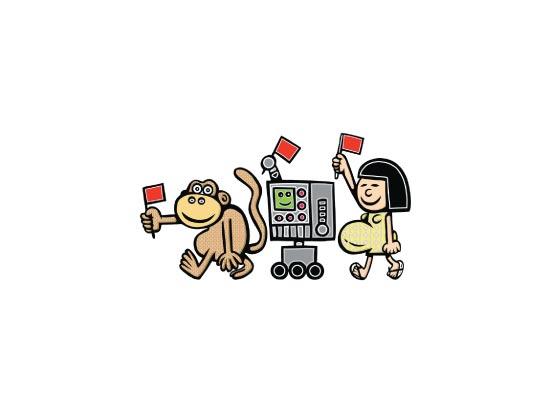 שימפנזים/ איור: תמיר שפר
