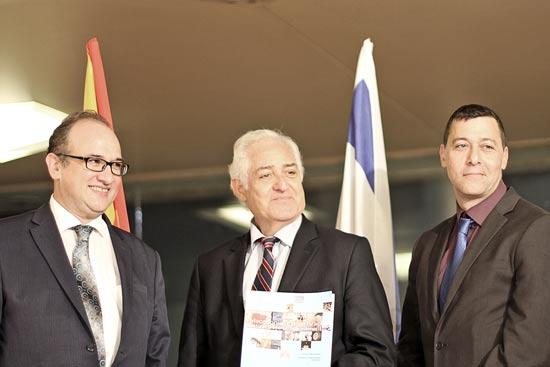 דן אוריין, יצחק אלדן ופאיו אבירוויקץ' /צילום: חדוה רוקח