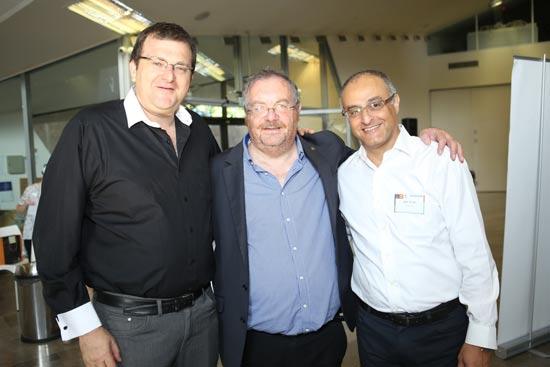 דוד מימון, הרב פרופ' דניאל הרשקוביץ ואלי יונס/ צלם: יוני רייף