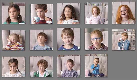 הילדים מהפרסומת של ויסוצקידס/ צילום:מתוך הפייסבוק של שלומי חתוכה