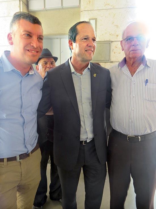 עמי ברגמן, ניר ברקת וליאור שטרסברג / צילום: יחצ