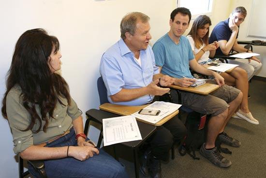 מאיר שטרית במפגש עם הסטודנטים / צילום: אורן שלו