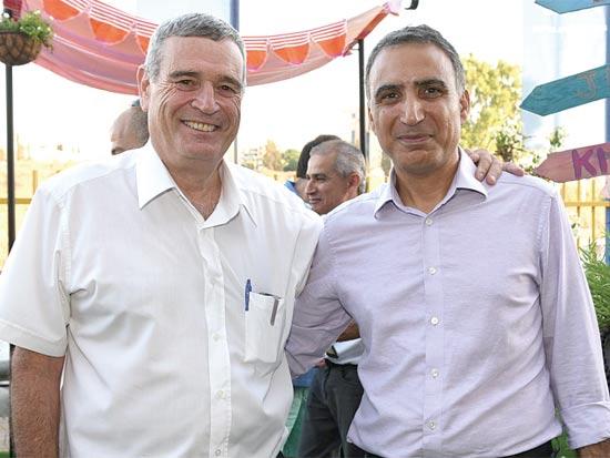 אלדד בן משה ודוד מטלון / צילום: תמר מצפי