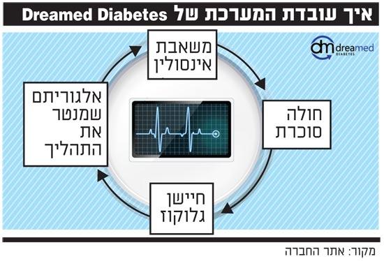 איך עובדת המערכת של Dreamed Diabetes