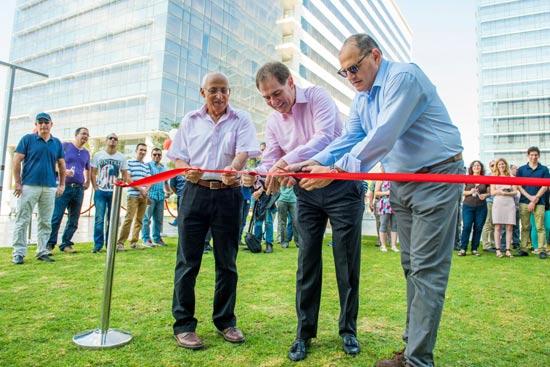 בועז רביב, גארי ברנט ומוטי ששון/ צילום: יניב לוי