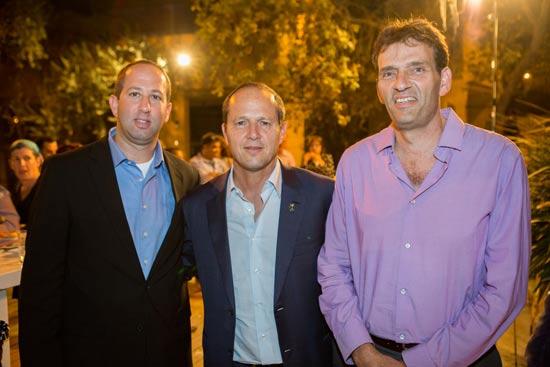 אמיר הלוי, ניר ברקת ואייל חיימובסקי/ צילום: קובי שרביט