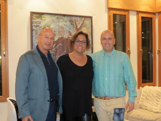 אבנר סטפק ויויאן ברקוביץ ושמוליק זיסמן/ צילום: שגרירות קנדה בישראל