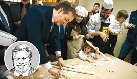 טד קרוז מכין השבוע מצות / צילום: רויטרס